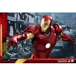 Iron Man Mark III Deluxe Hot Toys QS012 figurine 1/4 (Iron Man)