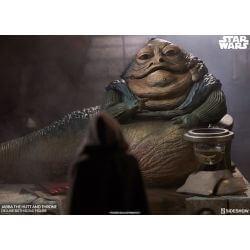 Jabba the Hutt et Trône (Deluxe) Sideshow Collectibles Sixth Scale figurine 1/6 (Star Wars VI : Le Retour du Jedi)