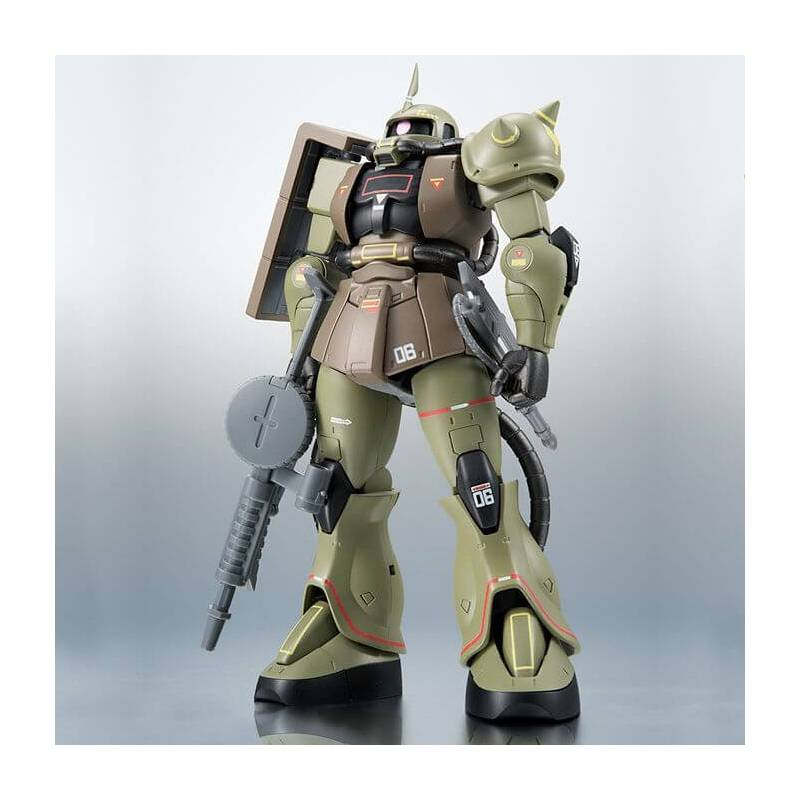 MS-06 Zaku II Mass Production Model Version Real Type Color Tamashii Nations figurine 15 cm (Mobile Suit Gundam)