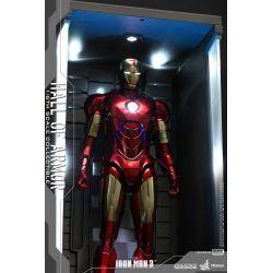 Hall of Armor Hot Toys DS001A diorama vitrine éclairée 1/6 (Iron Man 3)
