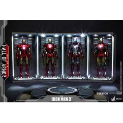 Hall of Armor Hot Toys DS001B diorama set de 4 vitrines éclairées 1/6 (Iron Man 3)