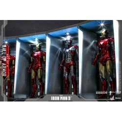 Hall of Armor Hot Toys DS001B diorama set of 4 displays 1/6 figure accessory (Iron Man 3)