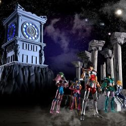 Fire Clock Sanctuary Saint Cloth Myth Diorama (Saint Seiya)