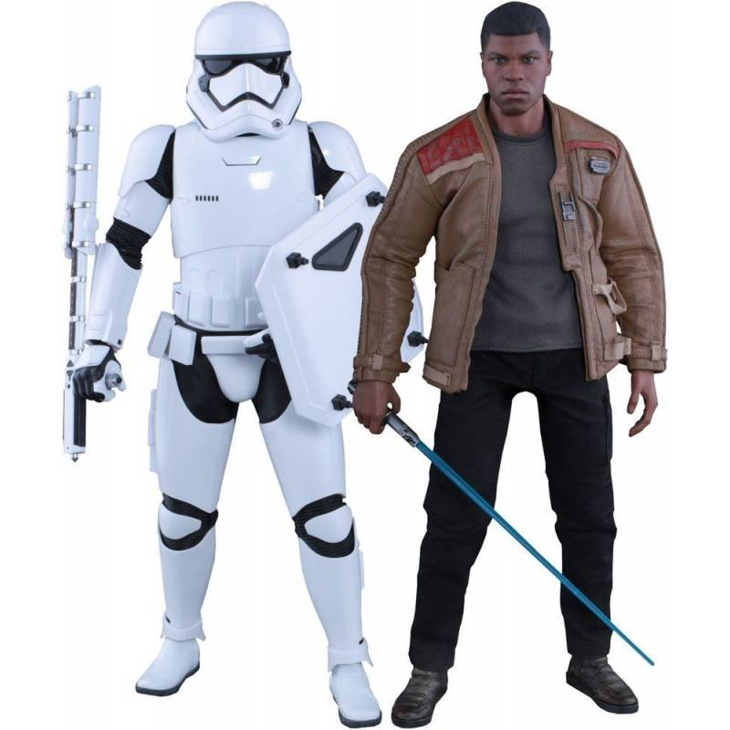 Finn and First Order Riot Control Stormtrooper Hot Toys MMS346 (Star Wars VII : The Force Awakens)