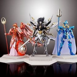 Myth Cloth Hades Athena et Poseidon 15ème anniversaire pack 3 figurines articulées (Saint Seiya)