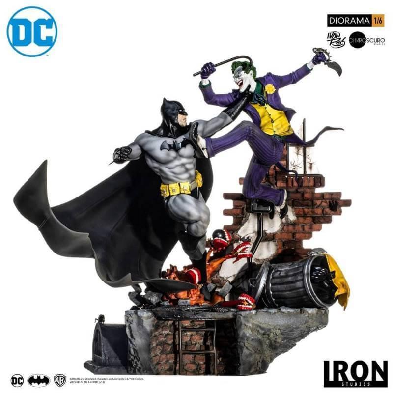 Batman vs Joker Battle by Ivan Reis Iron Studios 1/6 diorama (DC Comics)