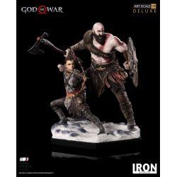 Kratos et Atreus Deluxe Art Scale Iron Studios Statue 1/10 (God of War)