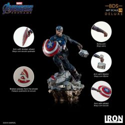 Captain America Deluxe BDS Art Scale Iron Studios 1/10 figure (Avengers : Endgame)
