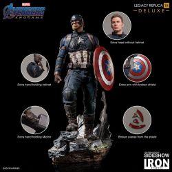 Captain America Deluxe Version Legacy Replica Iron Studios Statue 1/4 (Avengers : Endgame)
