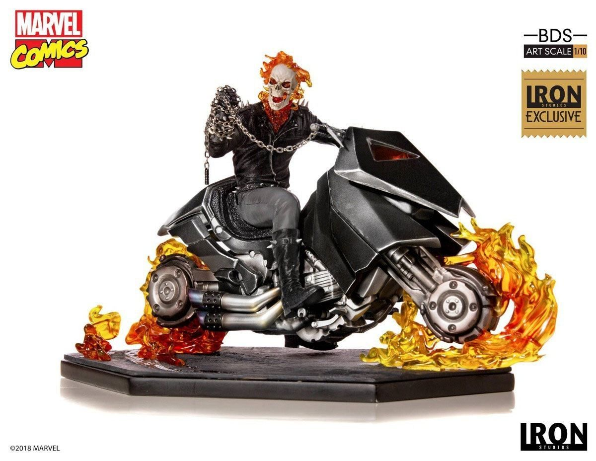 Ghost Rider Iron Studios 1 10 Comic Con 2019 Exclusive (Marvel Comics)