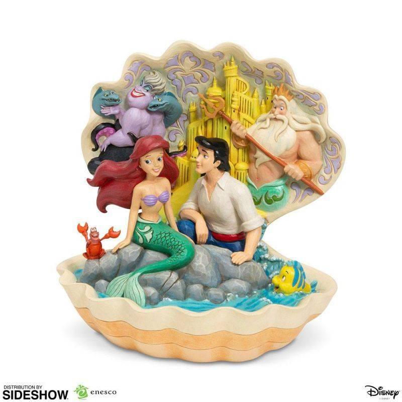 The Little Mermaid Shell Scene Enesco Disney (La Petite Sirène)