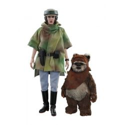 Princesse Leia et Wicket Hot Toys MMS551 1/6 (Star Wars VI : Le Retour du Jedi)