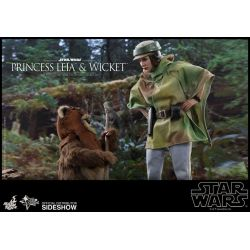 Princess Leia and Wicket Hot Toys MMS551 1/6 (Star Wars VI : Return of the Jedi)