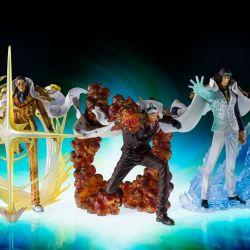 Kuzan Aokiji / Borsalino Kizaru / Sakazuki Akainu Figuarts Zero (One Piece)