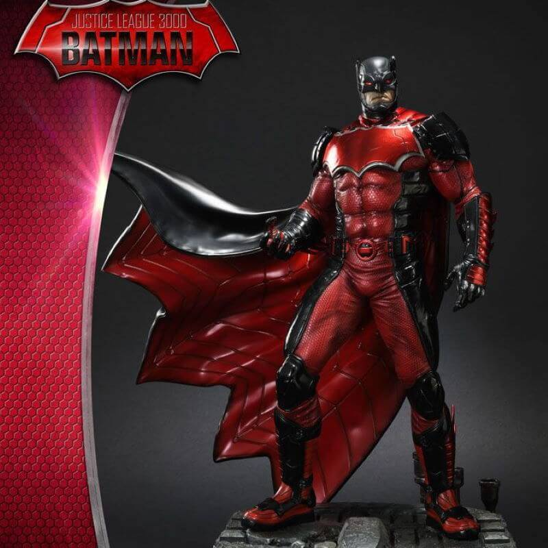 Batman 1/5 Prime 1 Studio Justice League 3000 Red Suit statue (Batman Arkham Knight)