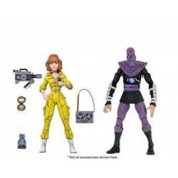 April O'Neil and Foot Soldier Neca (Teenage Mutant Ninja Turtles)