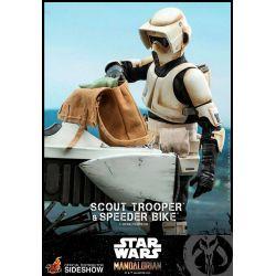 Scout Trooper et Speeder Bike Hot Toys TMS017 (Star Wars The Mandalorian)