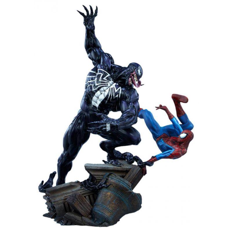 Spider-Man VS Venom Maquette Sideshow Collectibles (Marvel Comics)