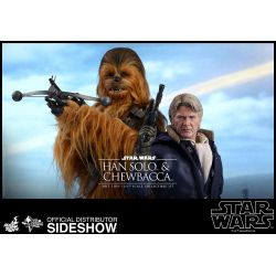 Han Solo and Chewbacca Hot Toys MMS376 (Star Wars 7 The Force Awakens)