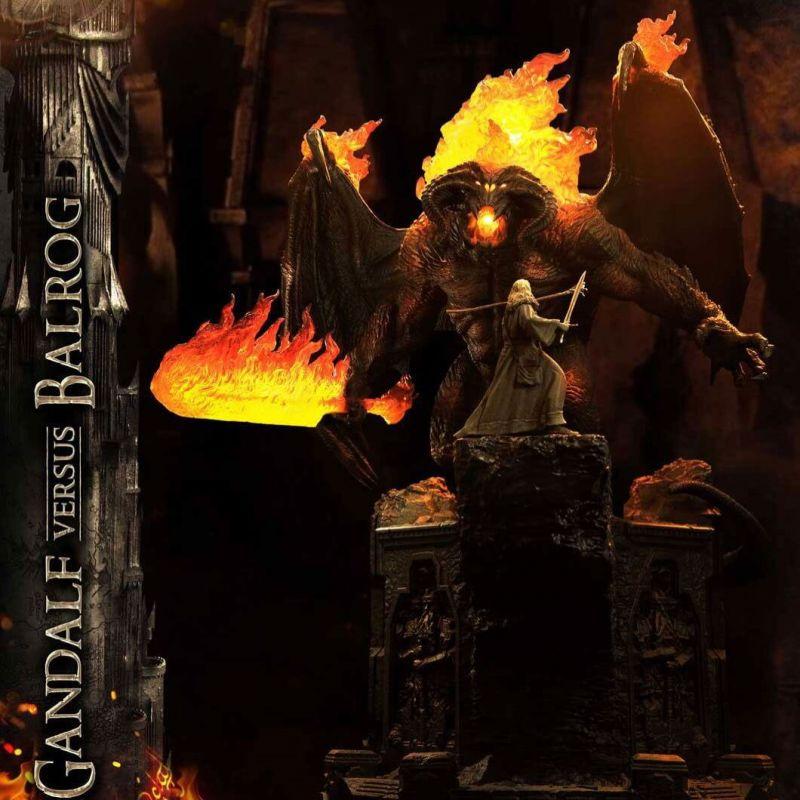 Gandalf Vs Balrog Prime 1 Studio (Le Seigneur Des Anneaux)