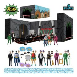 Batman 1966 Mezco 5 Points Deluxe Box Set action figures (Batman 1966)