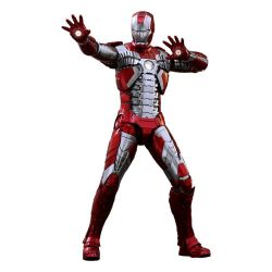 Figurine Iron Man Mark V Hot Toys Diecast MMS400D18 (Iron Man 2)