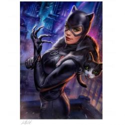 Affiche Catwoman Sideshow Fine Art Print (DC Comics)
