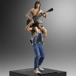 Angus and Brian Knucklebonz Rock Iconz figures (AC/DC)