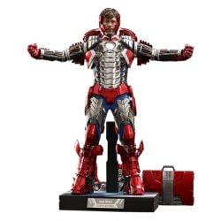 Figurine Tony Stark Hot Toys Mark V Suit Up Deluxe MMS600 (Iron Man 2)