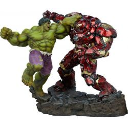 Statue Hulk vs Hulkbuster Sideshow Maquette (Avengers Age of Ultron)
