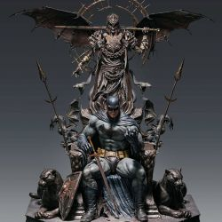 Statue Batman Queen Studios on throne (DC Comics)