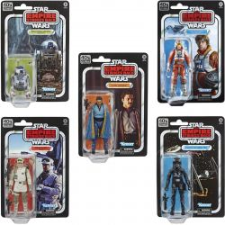 Tie Fighter Pilot - Lando Calrissian - R2-D2 - Luke Skywalker - Rebel Soldier Pack Black Series 40th anniversary (Star Wars 5)