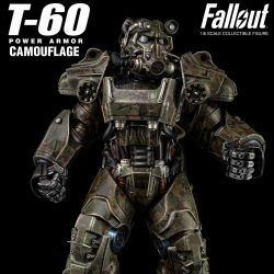 Figurine T-60 Camouflage Power Armor ThreeZero (Fallout)