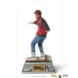 Statue Marty McFly Iron Studios Art Scale on Hoverboard (Retour vers le futur 2)