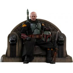 Boba Fett and throne (repaint armor) Hot Toys figure TMS056 (Star Wars The Mandalorian)