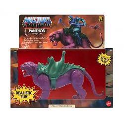 Panthor Mattel figure flocked collector Motu origins (Masters of the Universe)