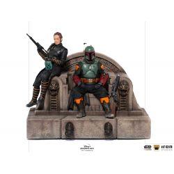 Boba Fett and Fennec Iron Studios Deluxe Art Scale figures (Star Wars : The Mandalorian)
