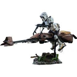 Figurine Scout Trooper et Speeder Bike Hot Toys MMS612 (Star Wars Le Retour du Jedi)