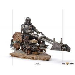 Figurine The Mandalorian et Speeder Bike Iron Studios Deluxe Art Scale (Star Wars : The Mandalorian)