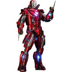 Iron Man Silver Centurion Hot Toys figure armor suit up version diecast MMS618D43 (Iron Man 3)