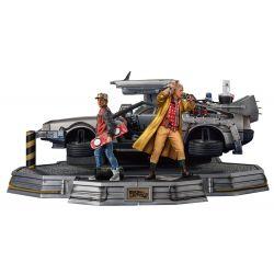 DeLorean Iron Studios Art Scale replica Deluxe (Back to the future 2)