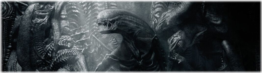 Alien figures and statues
