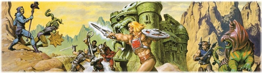 Masters of the Universe figures and statues