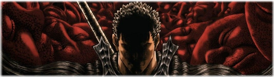 Berserk figures and statues
