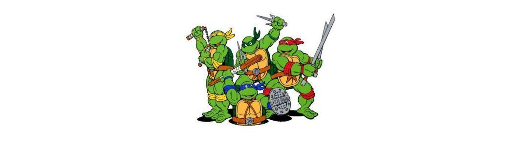 Teenage Mutant Ninja Turtles action figures and statues